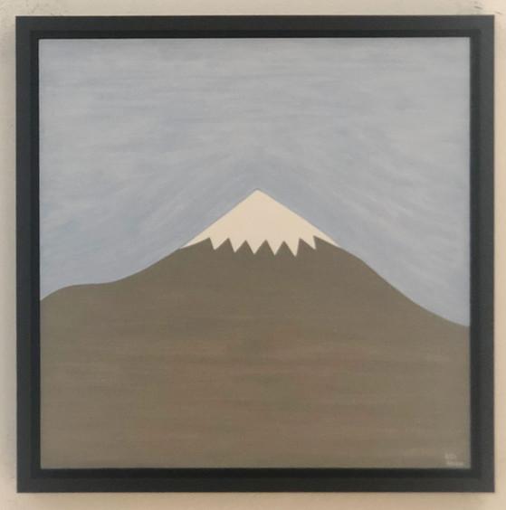 Damavand untitled 2020  oil on canvas board  30 x 30 cm
