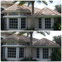 Flat tile roof Cleaning