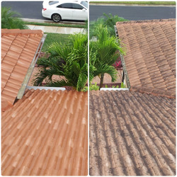 tile roof low pressure washing