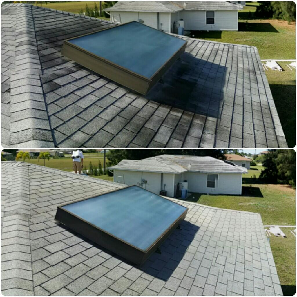 Low Pressure Roof Cleaning