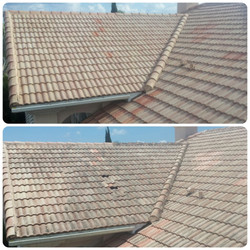 low pressure tile roof cleaning
