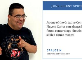 June Client Spotlight - Carlos N.