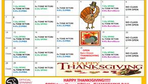November Class Schedule