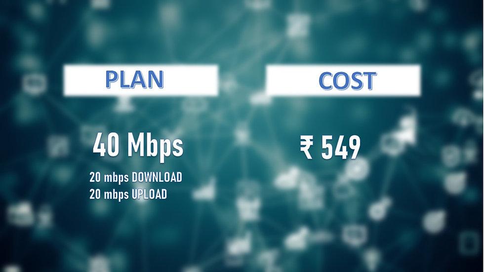 Fastnet 40 mbps unlimited Data
