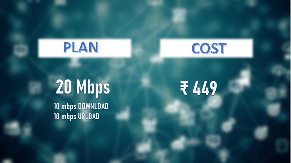Fastnet 20mbps unlimited Data