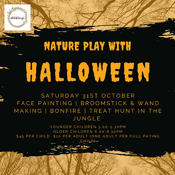Nature Play with Halloween | 3.00-5.30PM