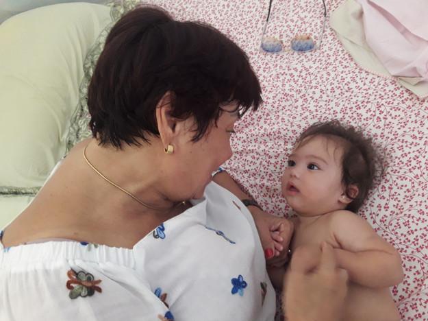 Nairzinha e sua neta Malu