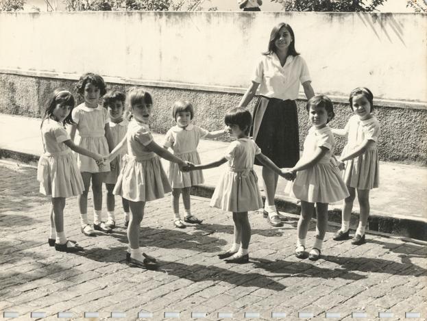 No colégio Sacramentinas em 1966