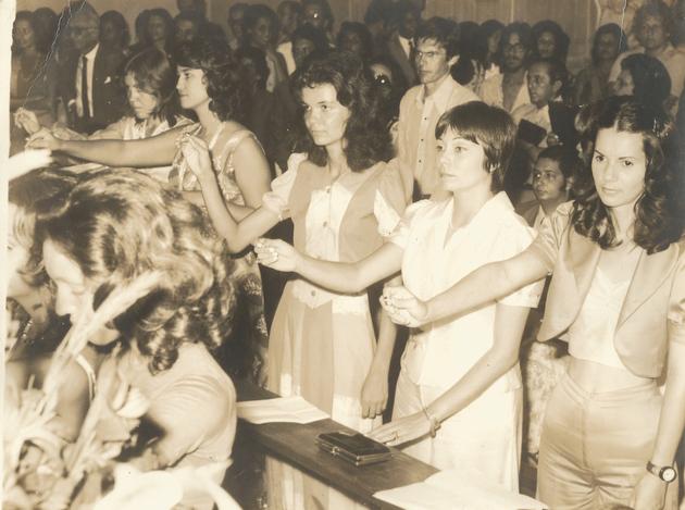 Formatura em Serviço Social em 1974