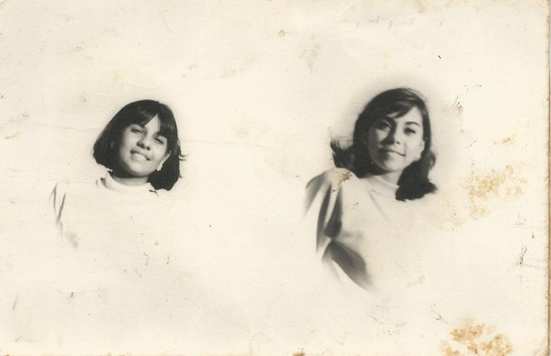 Lucinha e Nairzinha em 1962