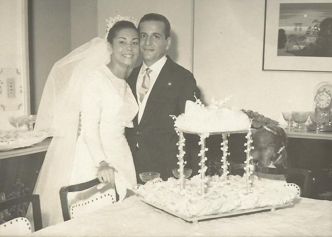 Nairzinha e Henrique no casamento em 1969