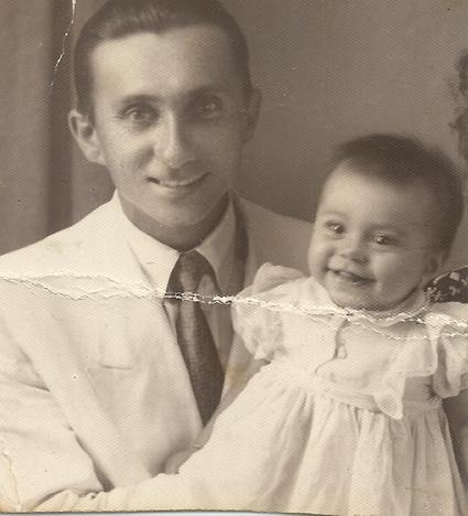 Pai Walter Spinelli e Nairzinha aos 7 me