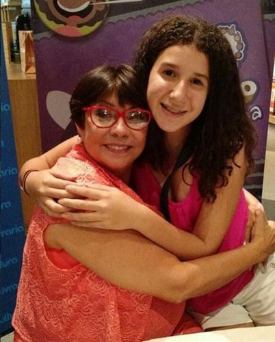 Nairzinha e sua neta Maria Alice em 2016