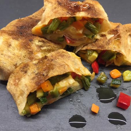 Involtini di pane carasau con verdure