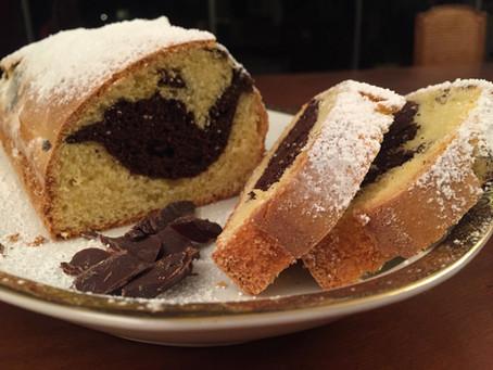 Plum Cake marmorizzato all'olio