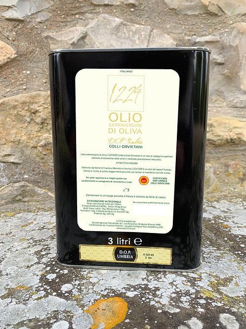 Latta 3lt Olio Extravergine di Oliva DOP 2021