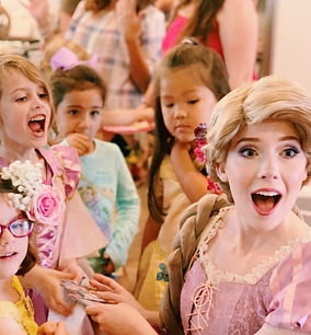 Once Upon a Crown princess performer at Rapunzel princess party