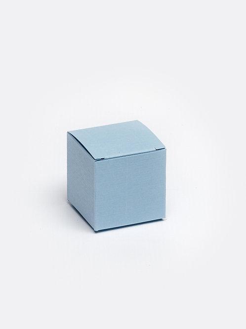 Kubus in karton - lichtblauw