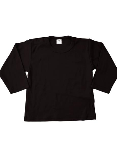 T-shirt lange mouw - zwart