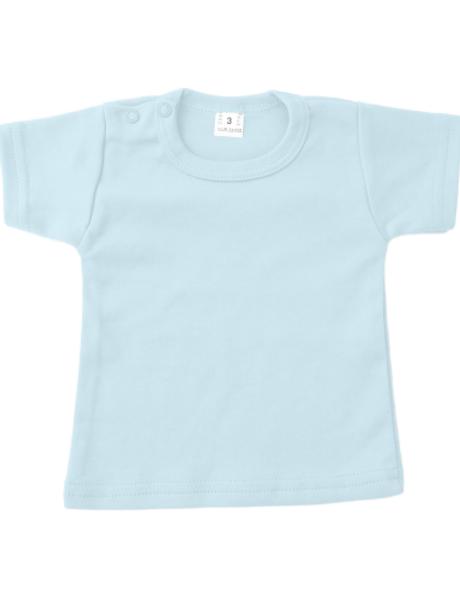 T-shirt korte mouw - baby blauw