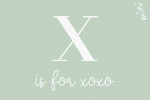 XOXO love letter - Mad about mats