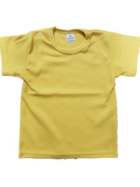 T-shirt korte mouw - oker