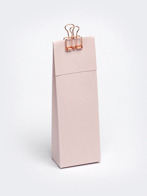 Hoog doosje met klep in karton - nude