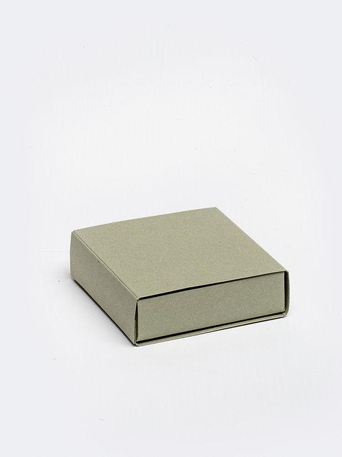Vierkant doosje karton - olijf