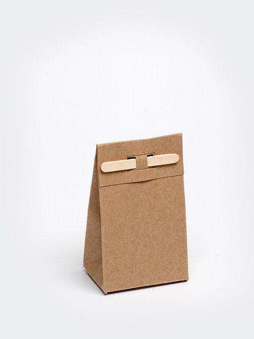 Kartonnen doosje met houten stokje - kraft