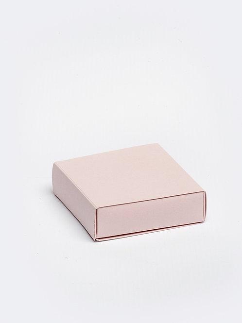 Vierkant doosje karton - roze