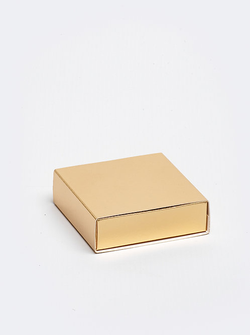 Vierkant doosje karton - goud