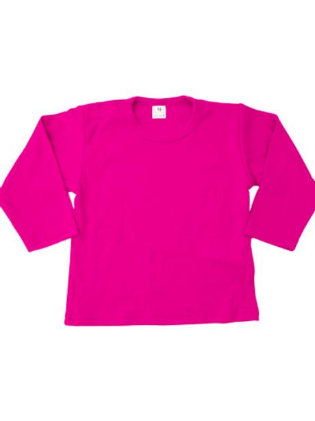 T-shirt lange mouw - fushia