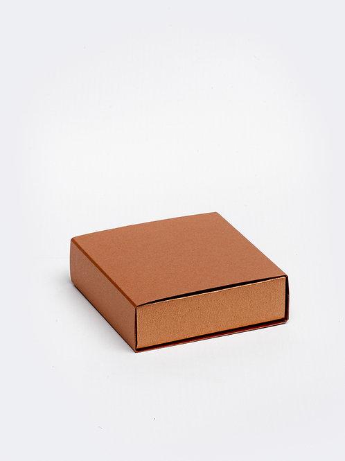 Vierkant doosje karton - koper