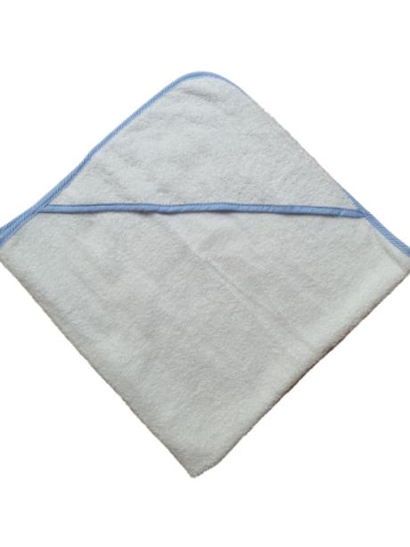 Badcape - wit met blauw