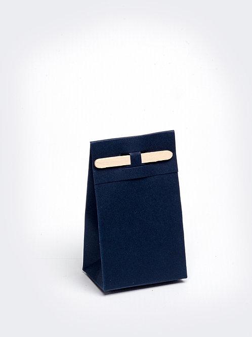 Kartonnen doosje met houten stokje - navy