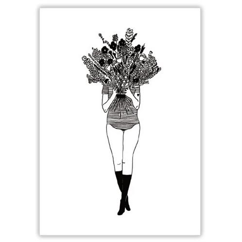 Poster flower girl A4 - Helen B