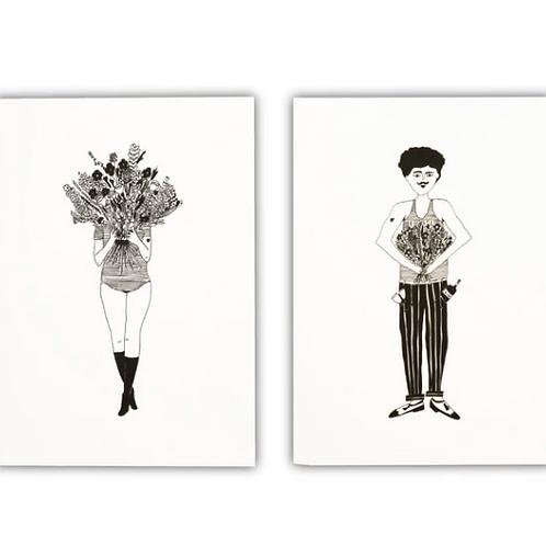 Notebook flower girl & flower man - Helen B - set van 2