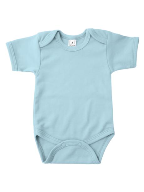 Rompertje korte mouw - babyblauw