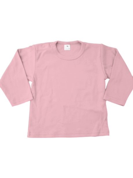 T-shirt lange mouw - babyroze