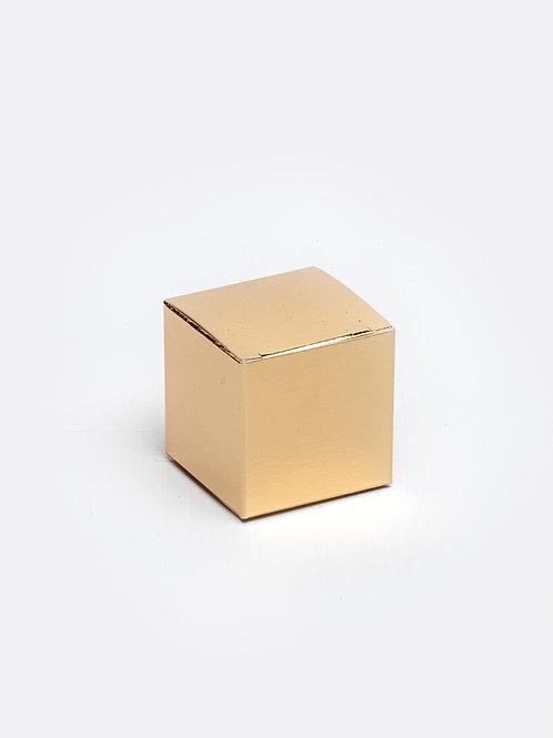 Kubus in karton - goud