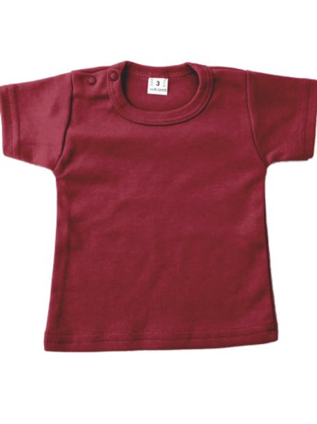 T-shirt korte mouw - burgundy