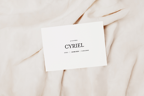 Collectiekaart Cyriel