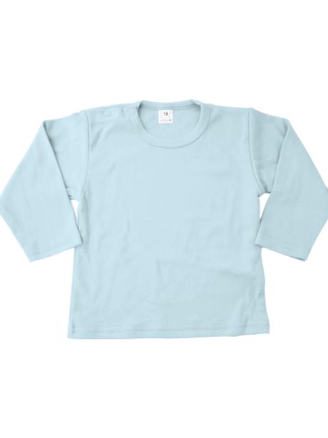 T-shirt lange mouw - babyblauw