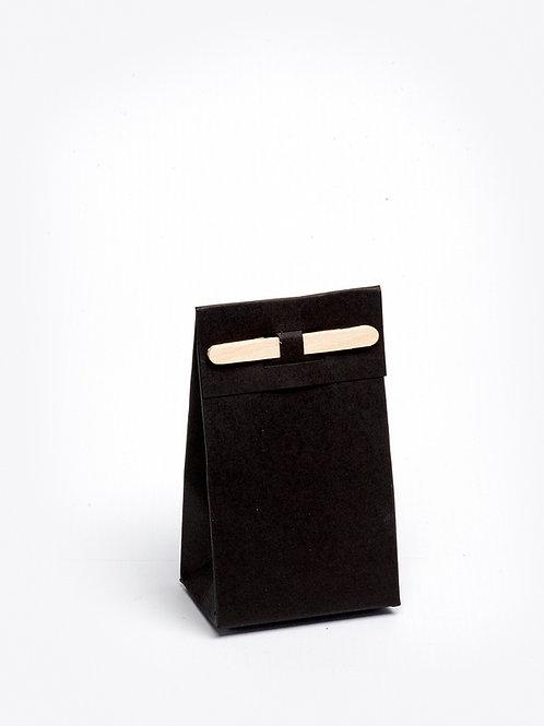 Kartonnen doosje met houten stokje - zwart