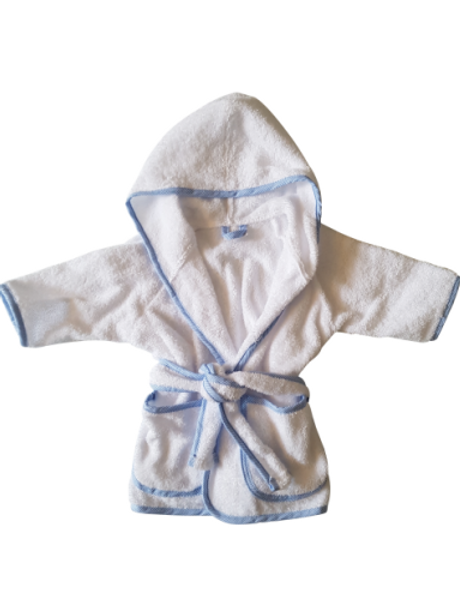 Badjas - wit met blauw