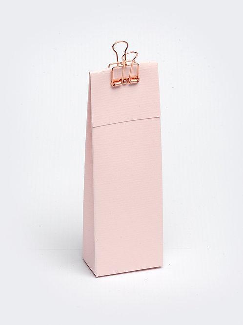 Hoog doosje met klep in karton - roze