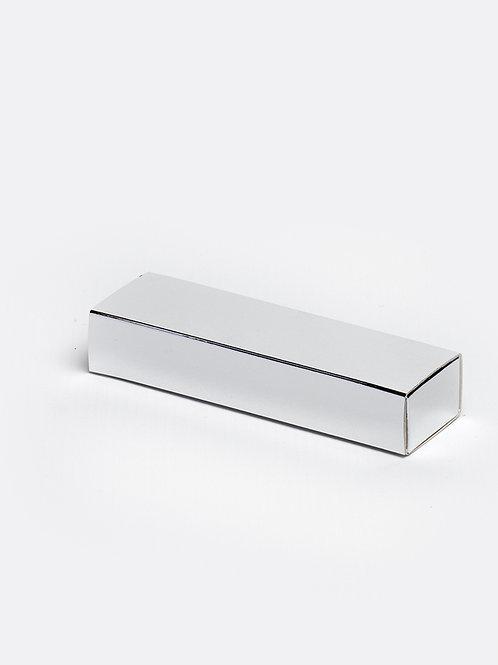 Schuifdoosje karton - zilver