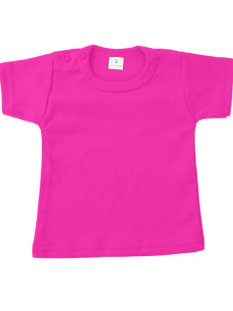 T-shirt korte mouw - fushia