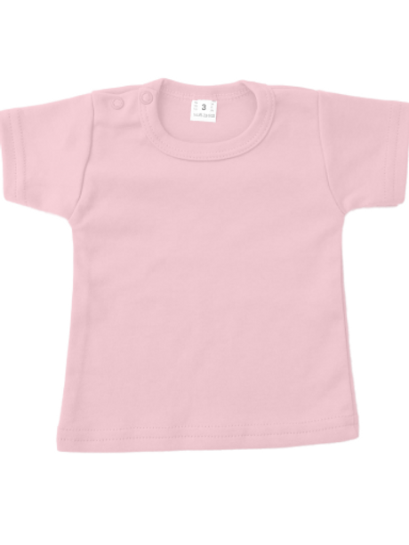 T-shirt korte mouw - baby roze
