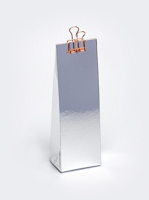Hoog doosje met gaatje - zilver